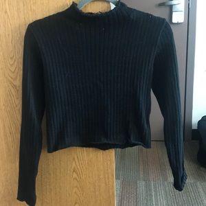 Black Mock neck sweater